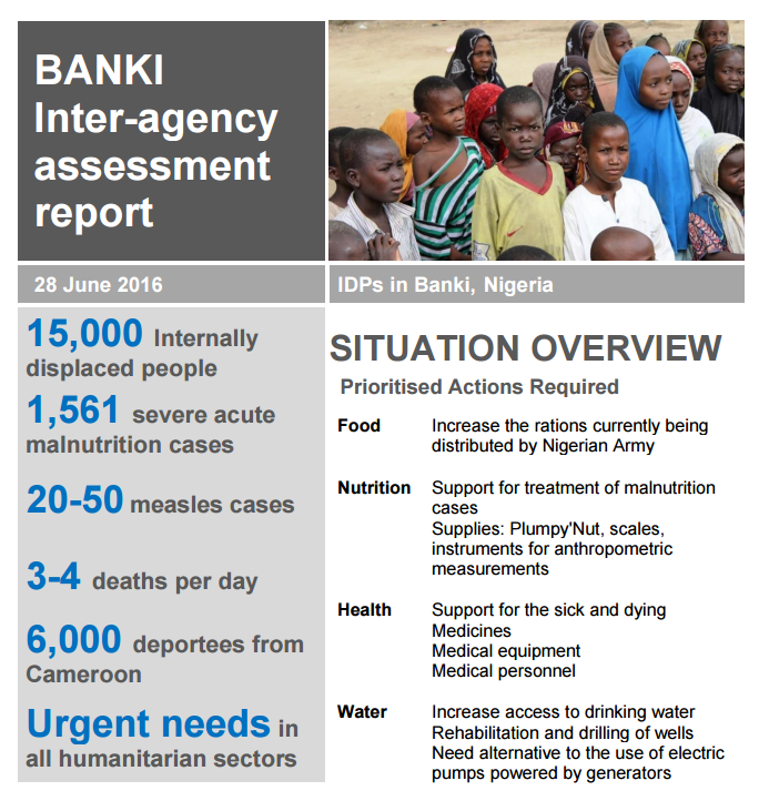 BANKI Inter-agency assessment report