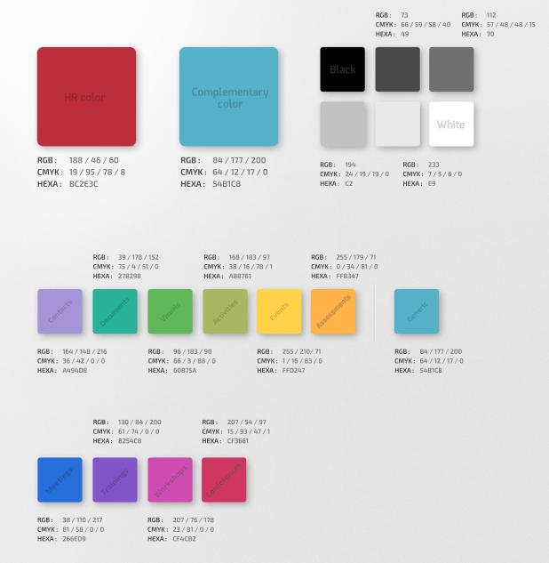 HR.info Branding Colours