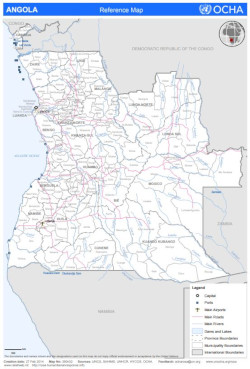 Image of Angola Reference Map