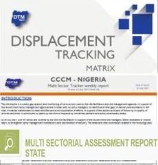 DTM baseline, CCCM Site Tracker, and other assessments