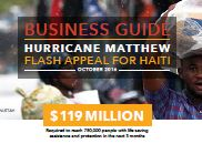 Business Guide: Hurricane Matthew Flash Apeal for Haiti