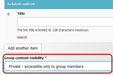 Group content Visibility