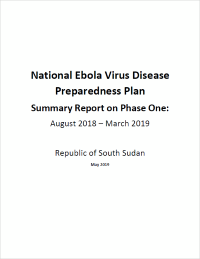 National Ebola Virus Disease Preparedness Plan (August 2018 – March 2019)