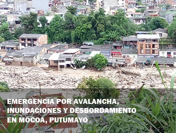 Emergencia por avalancha, inundaciones y desbordamiento en Mocoa, Putumayo
