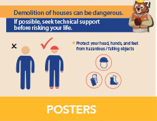 Safe demolition poster