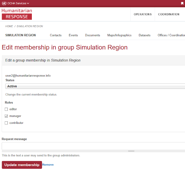 Screenshot of the HR.info admin dashboard - Membership