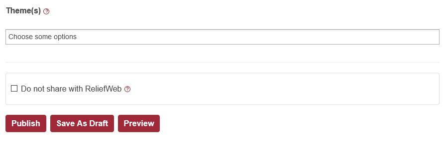 Screenshot of save document form