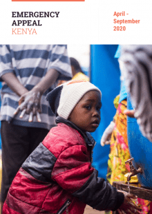 Cover of the Kenya Emergency Appeal (April - September 2020)