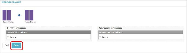 Save Page layout
