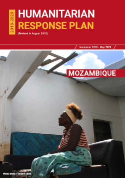 Cover of Mozambique Humanitarian Response Plan 2018-2020