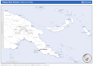 Screenshot of a Papua New Guinea reference map
