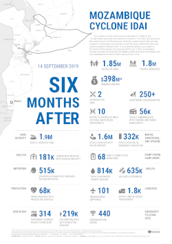 Infographic: Mozambique Cyclone Idai - Six months after