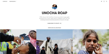 Screenshot of UNOCHA ROAP Exposure website