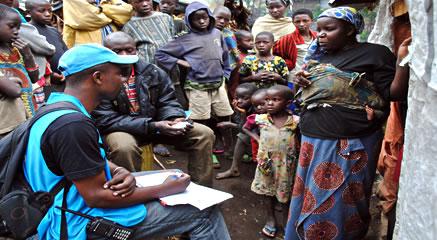 Opération d'enregistrement des déplacés internes au Nord Kivu, (Copyright : UNHCR / 2014)