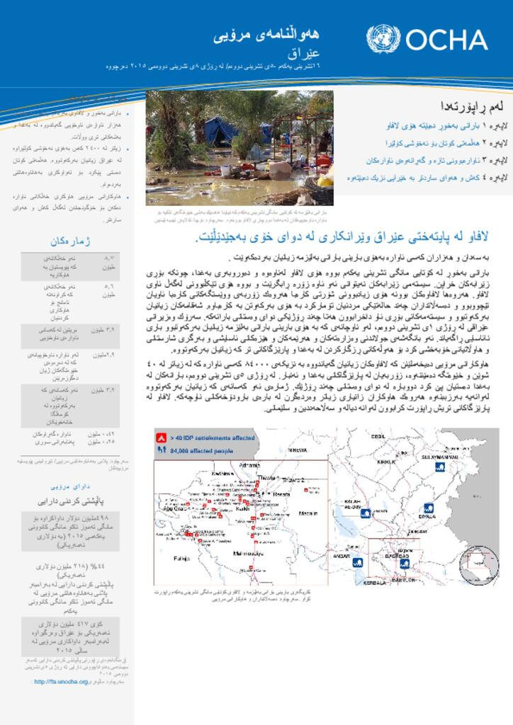 Iraq Humanitarian Bulletin, Issue 2 (16 October-5 November 2015) Kurdish