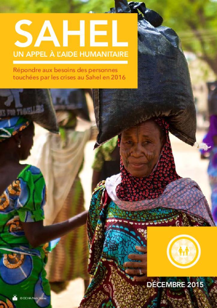 Sahel HRP 2016 - Plan de Réponse Humanitaire [FR/EN]