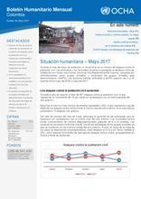 Boletín Humanitario Mensual - Mayo 2017