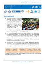 République du Congo : Département du Pool Rapport de situation