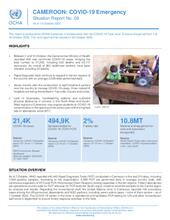 CAMEROON: COVID-19 Emergency Situation Report No. 09, as of 15 October 2020