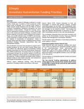 Ethiopia - Immediate Humanitarian Funding Priorities (April-June 2019)