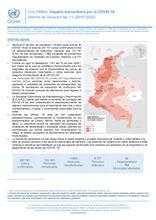 COLOMBIA: informe de situación N° 11 Impacto humanitario por el COVID-19