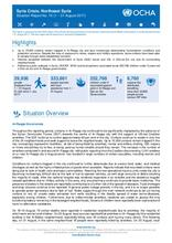 Syria Crisis: North East Syria - Situation Report No. 15 (1 – 31 August 2017)