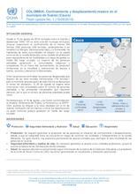 COLOMBIA: Flash Update No. 1 - Confinamiento y desplazamiento masivo en el municipio de Suárez (Cauca)