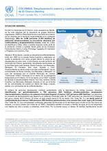 Flash Update No. 1. COLOMBIA: Desplazamiento masivo y confinamiento en el municipio de El Charco - Nariño. (14/04/2020) [ES]