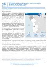 COLOMBIA: Flash Update No. 3 - Desplazamiento masivo y confinamiento en el municipio de Alto Baudó (Chocó)