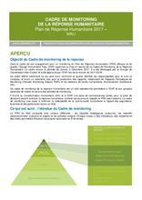 Cadre de Monitoring de la Réponse Humanitaire Mali 2017