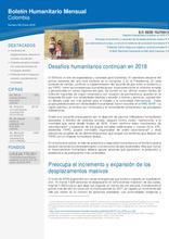 Colombia: Boletín Humanitario Mensual Enero 2018