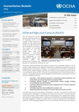 Iraq: Humanitarian Bulletin, September 2018 | Issued on 15 October 2018
