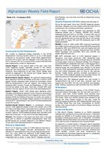 OCHA Afghanistan Weekly Field Report Week | 8 - 14 January 2018