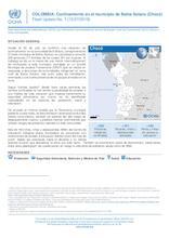 COLOMBIA: Confinamiento en el municipio de Bahía Solano (Chocó) Flash Update No. 1