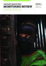 South Sudan Humanitarian Response Monitoring Report (January to March 2020)