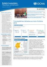 RCA: OCHA Bulletin humanitaire #39 (oct 2018)