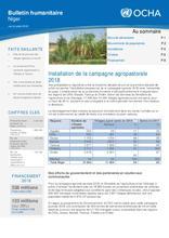 Niger:Bulletin d'information humanitaire juin juillet 2018