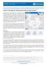 Colombia –  Flash Update No.2. Desplazamientos masivos en Tarazá (Antioquia)