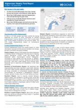 Afghanistan Weekly Field Report   4 June – 10 June 2018