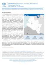 COLOMBIA: Flash Update No. 1 - Desplazamientos masivos en el municipio de Roberto Payán (Nariño)