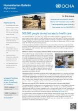 OCHA: Humanitarian Bulletin Afghanistan Issue 66 | 1 – 31 July 2017