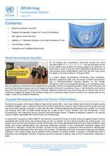 Iraq: Humanitarian Bulletin, August 2021 [EN][کوردی][العربية]