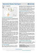 OCHA Afghanistan; Weekly Field Report, 7 – 13 August 2017