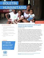 Boletín Humanitario Diciembre 2018 - Balance anual