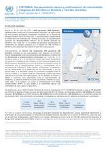 Flash Update No.1 Desplazamiento masivo y confinamiento de comunidades indígenas del Alto Sinú en Montería y Tierralta (Córdoba)