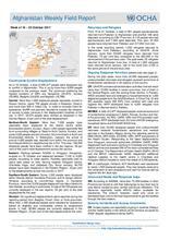 OCHA Afghanistan Weekly Field Report | 16 - 22 October 2017