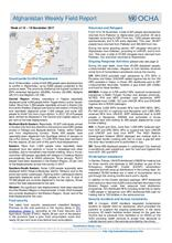 OCHA Afghanistan Weekly Field Report Week | 12 - 19 November 2017