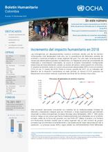 Colombia: Boletín Humanitario Mensual Noviembre 2018