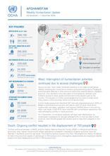 Afghanistan Weekly Humanitarian Update  | 25 November to 1 December 2019