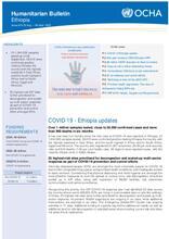 Ethiopia Bi-Weekly Humanitarian Bulletin, 24 AUG - 06 SEP 2020 [EN]
